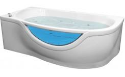 Гелькоутная гидромассажная ванна Милена (правая) 1700 на 940 фото