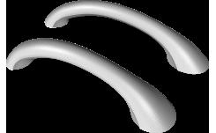 Ручки полиуретановые белые (2 шт.) на фото