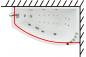 Карниз для шторы к ванне Бэлла 1400 на 760 фото - 3