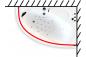 Карниз для шторы к ванне Кайли 1500 на 1010 фото - 3