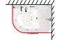 Карниз для шторы к ванне Респект 1800 на 1300 фото - 3