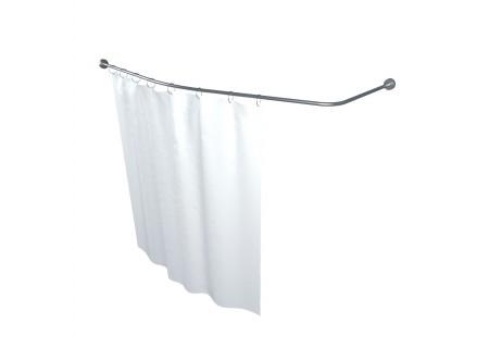 Карниз для шторы к ванне Мишель 170 см Г-образный 1700 на 960 фото