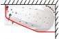 Карниз для шторы к ванне Мишель 170 см Г-образный 1700 на 960 фото - 3