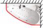 Карниз для шторы к ванне Пеарл-Шелл 1600 на 1040 фото - 3