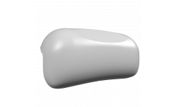Подголовник на присосках белый на фото