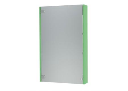 Зеркальный шкаф Эко-50 салатовый на 500 фото