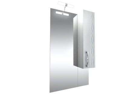 Зеркало Кристи-60 удлинённое с подсветкой и шкафом (правое) на 601 фото