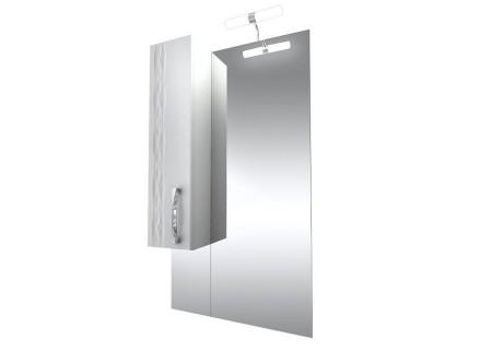 Зеркало Кристи-60 удлинённое с подсветкой и шкафом (левое) на 601 фото