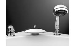 Смеситель врезной в борт ванны Triton Niagara 213 трёхпозиционный на фото