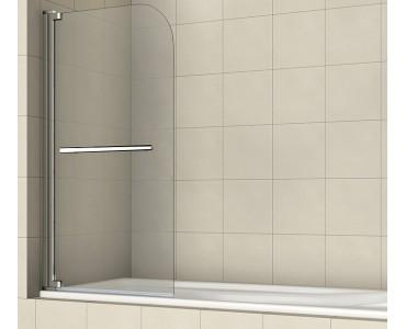 Шторка на ванну распашная маятниковая с ручкой полотенцедержателем RGW Screens SC-02