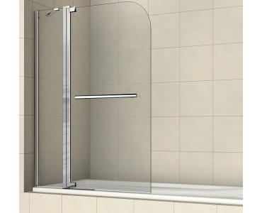 Шторка на ванну распашная маятниковая с ручкой полотенцедержателем RGW Screens SC-03