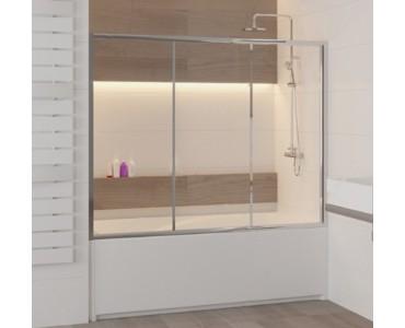 Шторка на ванну раздвижная трехстворчатая RGW Screens SC-41