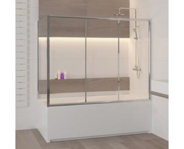 Шторка на ванну раздвижная трехстворчатая с боковым элементом Z-52 RGW Screens SC-81