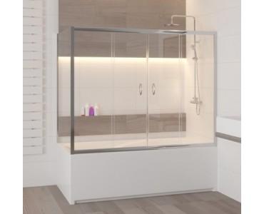 Шторка на ванну раздвижная с боковым элементом Z-52 RGW Screens SC-91