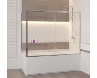 Шторка на ванну раздвижная двустворчатая с боковым элементом Z-52 RGW Screens SC-92