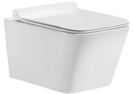 Подвесной безободковый унитаз SOLE Cube с крышкой Soft-Close на 362 фото